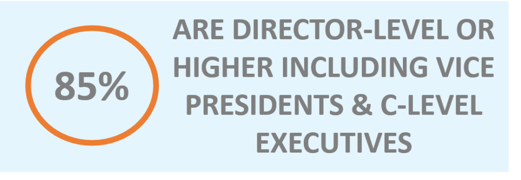 85 percent are director-level or higher